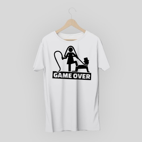 T-shirt addio al celibato / nubilato game over