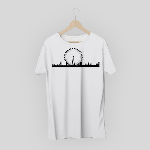 T-shirt skyline Londra 2