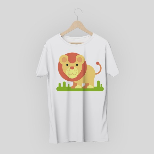 T-shirt leone cartoon