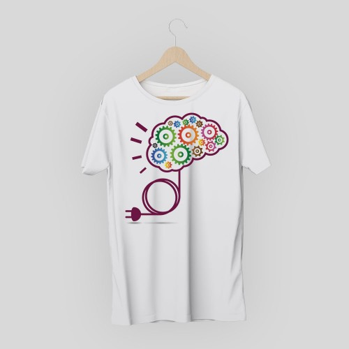 T-shirt creative brain
