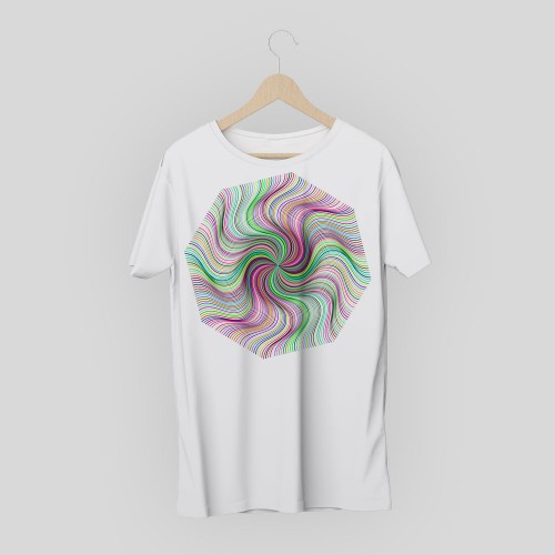 T-shirt geometric design 4