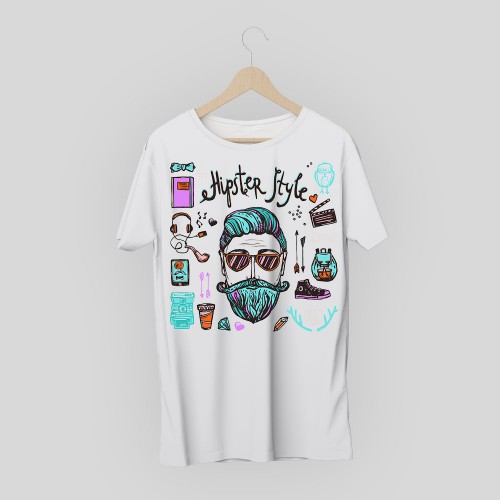 T-shirt hipster style